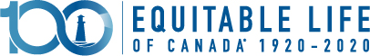 Equitable Life of Canada logo celebrating 100 years (1920-2020)