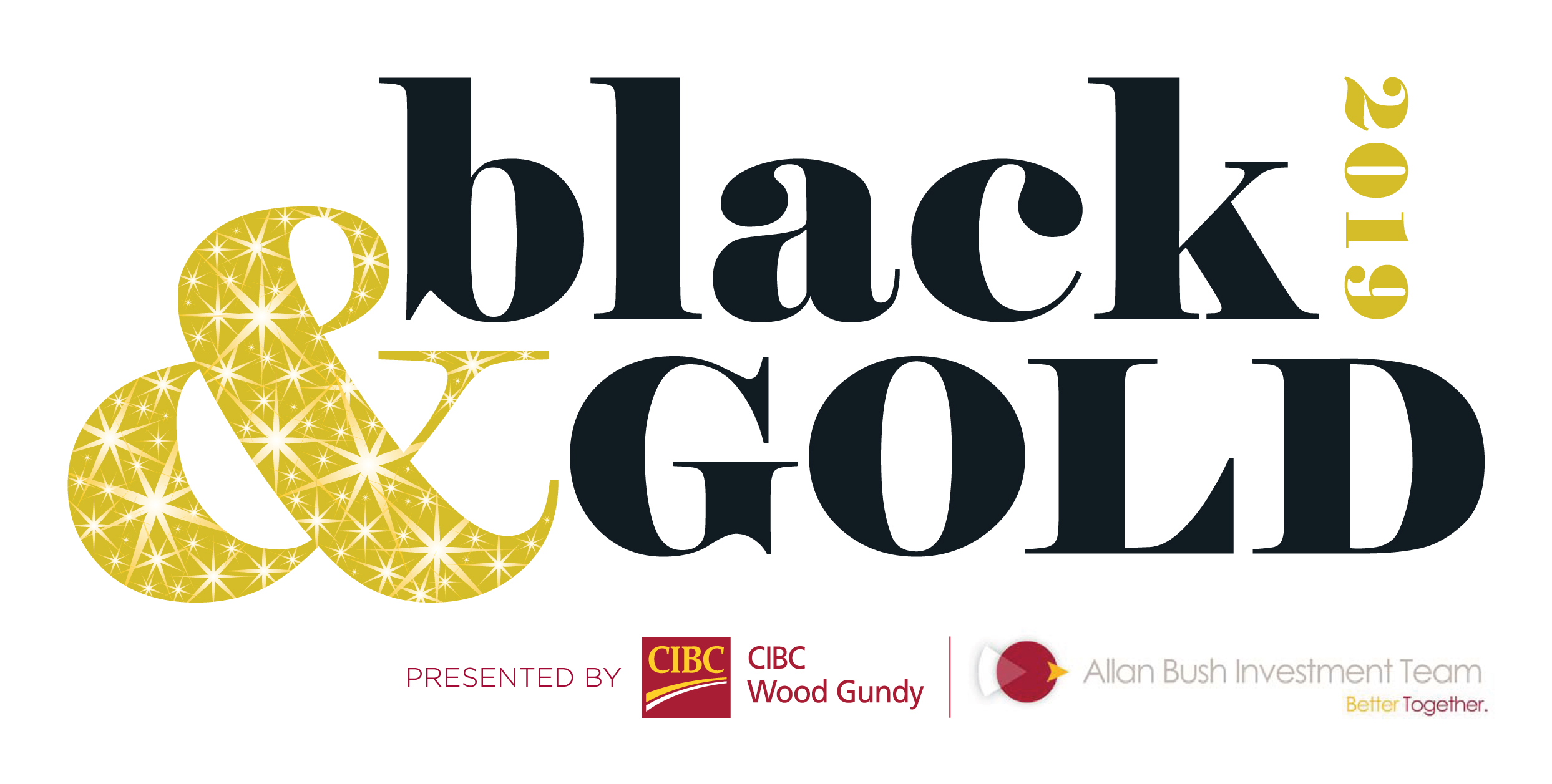 Black & Gold 2019 Presented by CIBC Wood Gundy - Allan Bush logo