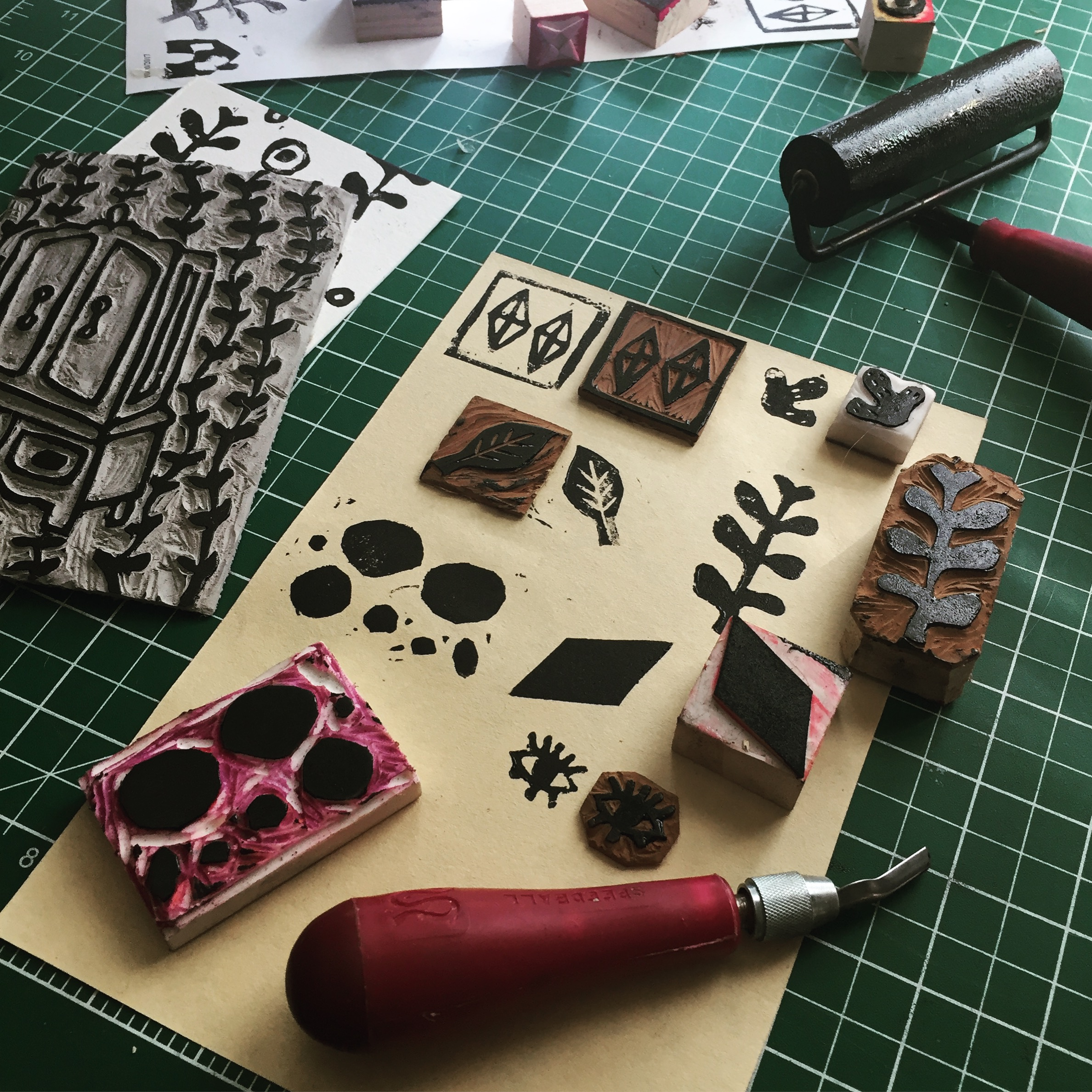 Stamps and stencils using foam board