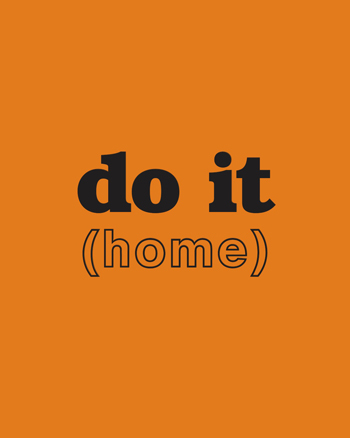 do it (home) text in black on an orange background