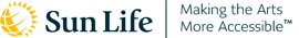 Sun Life Financial logo with the tagline Making the Arts More Accessible